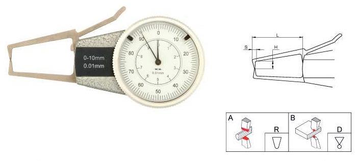 Толщиномеры индикаторные рычажные